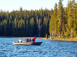 Fishing and boating at nearbvy lakes.